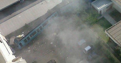 Imagen del tren descarrilado. © @oscarnietomunoz (Twitter).