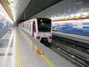 NS07 del metro de Santiago en Hernando de Magallanes, línea 1. Foto: Osmar Valdebenito