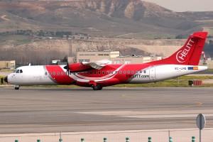 El EC-LNQ, un ATR 72 de Helitt similar a los empleados por Air Europa en Badajoz. Foto tomada en Barajas por Magic Aviation.