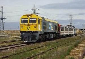 Traslado de la 440 de La Sagra por Villasequilla-Mocejón. Instantánea sacada del vídeo de ELCARLOS123456.