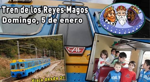 Imagen promocional del Tren de los Reyes Magos en Madrid organizado por la AAFM