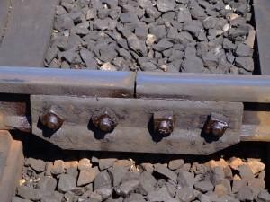 Junta de dilatación del ferrocarril británico de Bluebell. Foto: Les Chatfield.