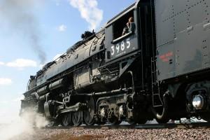 """La locomotora de vapor UP 3985 """"Challenger"""" es la más potente de todas las que hay en servicio. Foto: Mark Evans."""