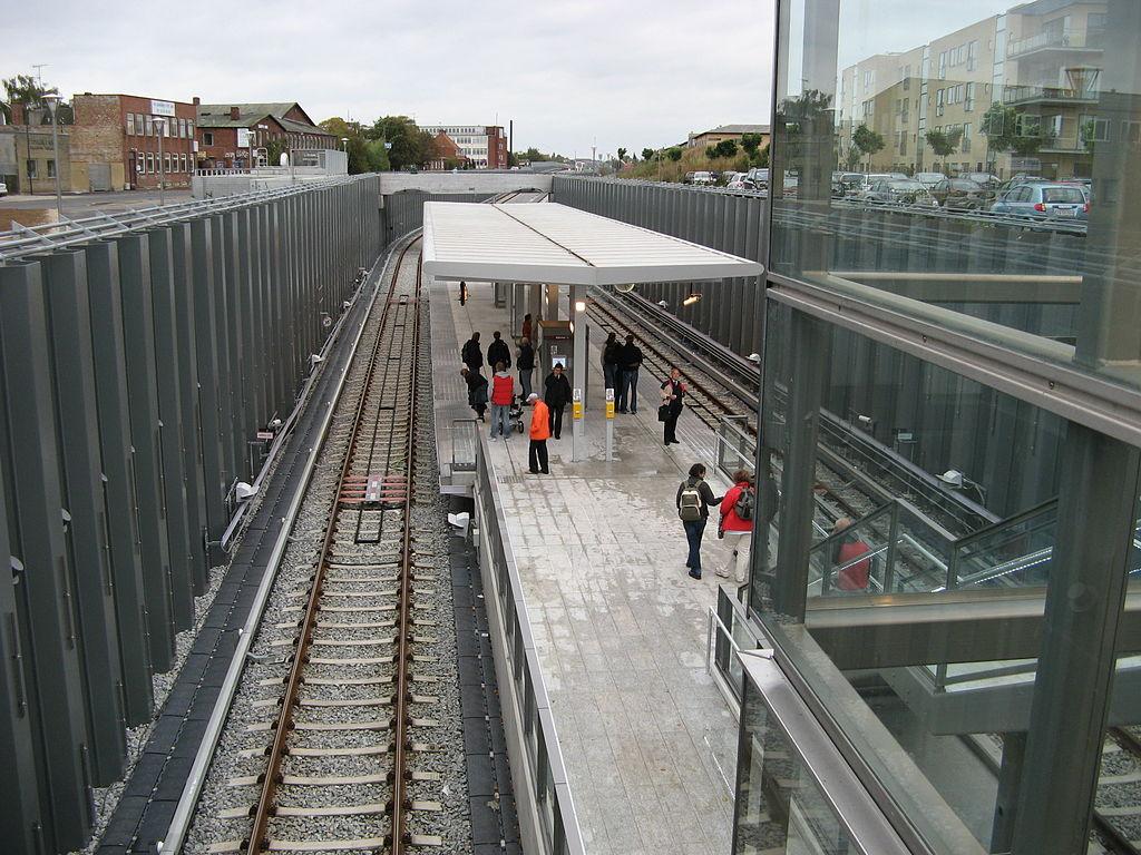 Metro de Copenhague.