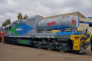 La locomotora TEM19 da un paso más y se sitúa como la primera que funciona al 100% con gas natural.