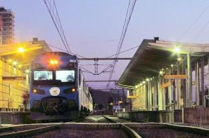Un UTS 444 en la estación de ferrocarril de Concepción haciendo un especial de la Teletón en 2002. Foto: Sebastián Betancourt.