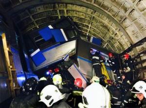 Datos actualizados del accidente del metro de Moscú