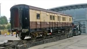 Fue la locomotora Winton Churchill la que remolcó este vagón, que transportaba los restos del ex primer ministro en enero de 1965.