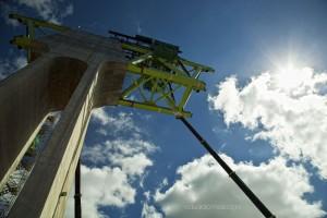 El puente del AVE a Galicia en su fase de construcción.