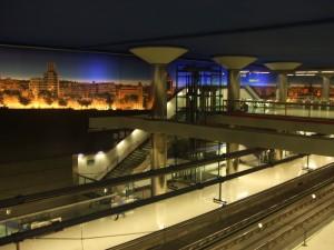 El vestíbulo de la estación de Nuevos Ministerios, será uno de los elegidos por Metro de Madrid para albergar las taquillas de recogida de compras por internet.