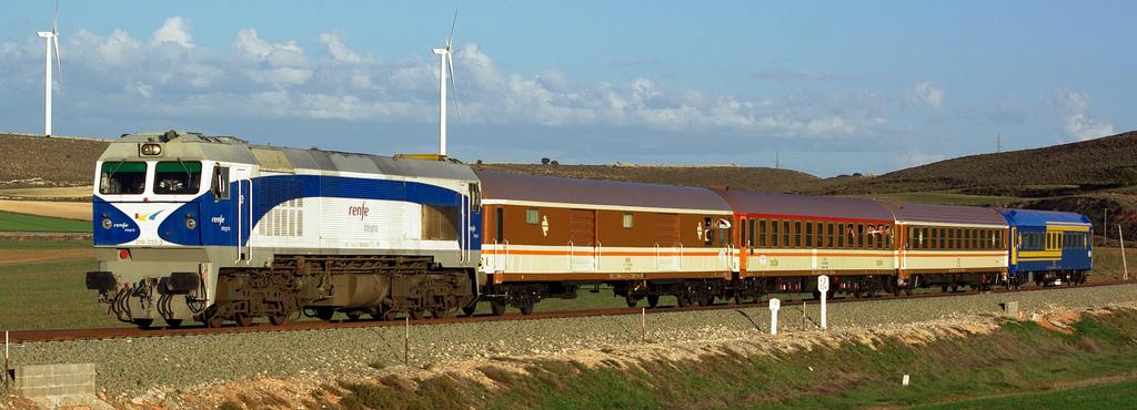 El tren que la AAFM usará para el viaje navideño a Venta de Baños.