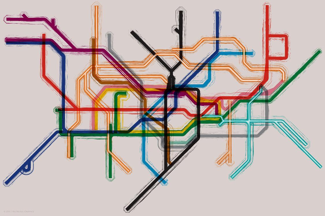 Las expresiones artísticas en el metro de Londres se pueden encontrar en diversos formatos: carteles, esculturas, portadas de los mapas de bolsillo...