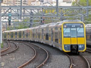 Tren de la serie Tangara de Sydney Trains llegando a la estación Central. Foto: Stefano Campolo.