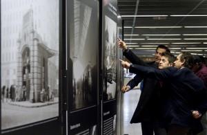 La muestra de Català Roca irá exponiéndose en los intercambiadores de Madrid hasta el 19 de junio. Foto: Metro de Madrid.