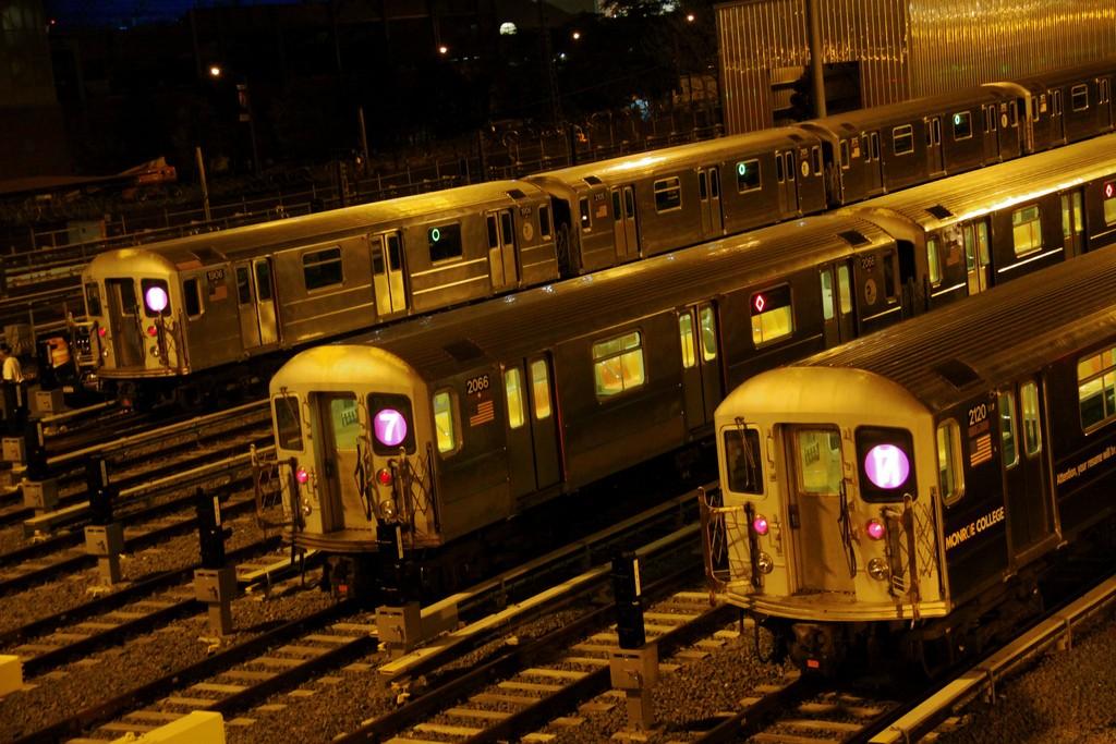 La red de Nueva York es uno de los pocos metros del mundo que ofrece servicio 24h. Foto: Chris Goldberg.
