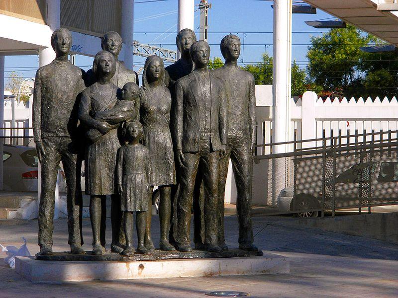 Monumento dedicado a las víctimas del 11-M ubicado en Alcalá de Henares. Foto: emijrp.