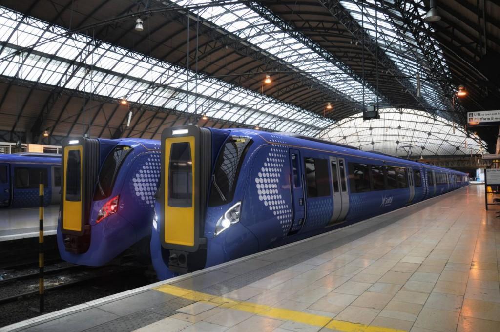 Imagen del diseño de los trenes Hitachi que Abellio usará en la franquicia ScotRail a partir de 2017. Foto: Hitachi Rail Europe.