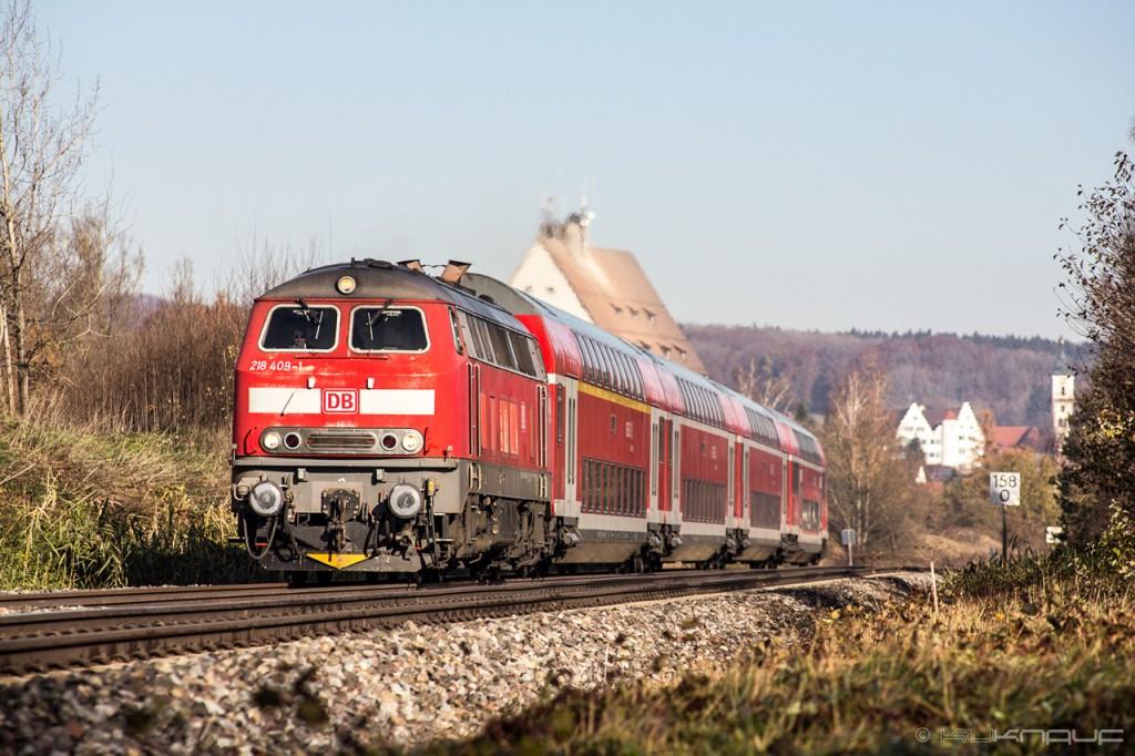 Tren regional de la Deutsche Bahn, empresa afectada por la huelga ferroviaria del sindicato GDL. Foto: kuknauf.