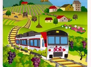 El Tren Peregrino es la principal novedad de esta edición de Galicia a todo tren. Foto: Marejadilla en Alborán.