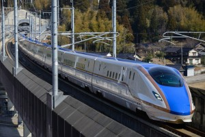 Nuevos los W7 bala tren Nagano Shinkansen para. Foto: DAJF.