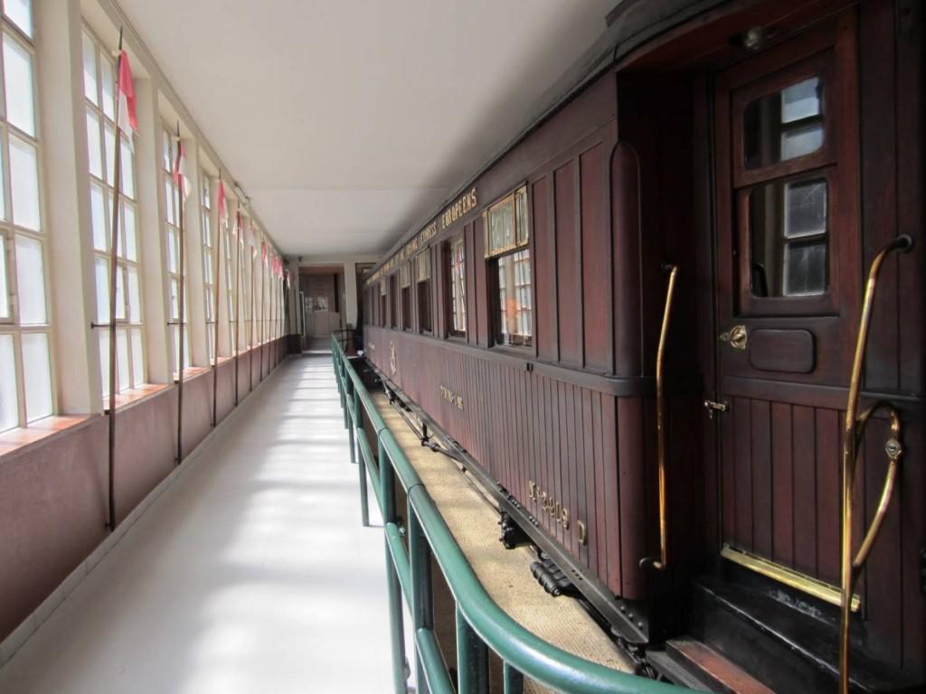 La réplica del vagón del armisticio que está expuesta actualmente en Francia. Foto: Blog de la clase de historia.