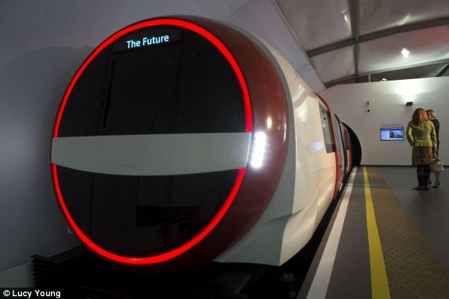 Diseños futuristas para el metro de Londres. Este es el de Siemens. Foto: Lucy Young.