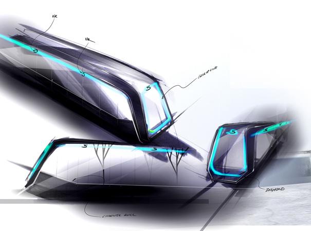 Boceto del Siemens Inspiro, con diseños de BMW. Foto: Gondola project.