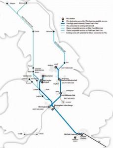 Mapa del proyecto HS2. Foto: Construction News.