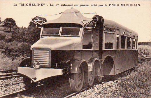 El automotor Michelin tenía un aspecto mucho más parecido a un autobús o camión que a un tren. Foto: El Correo.