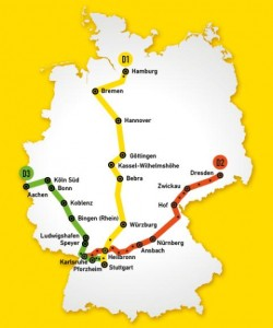 Las futuras líneas de DerSchnellzug. Foto: My News Desk.