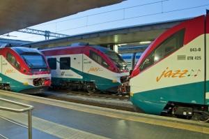 Los nuevos Alstom Jazz que Trenitalia usará en el servicio Leonardo Express. Foto: Mobiliti Press.