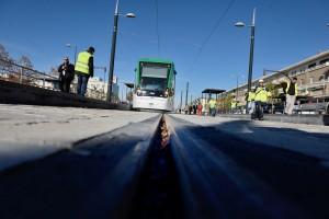 Metro de Granada ya tiene sus 15 Urbos 3 de CAF. Foto: Junta Granada Informa.