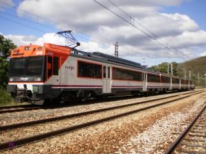Tren de la serie 470 en La Granja, El Bierzo. Foto: JT Curses.