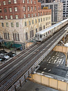 "Imagen del Chicago ""L"" tomada por clarkmaxwell."
