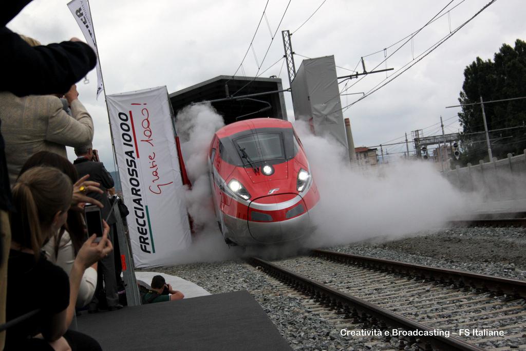 El Frecciarossa 1000 revoluciona la red ferroviaria italiana. Foto: Ferrovie dello Stato Italiane.