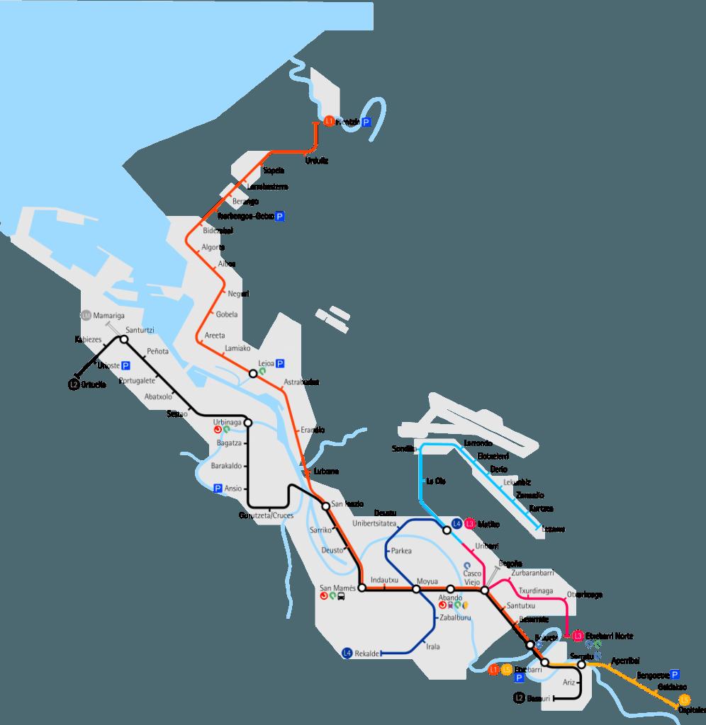Plano de la red futura, según lo proyectado, realizado en base al de Laukatu.