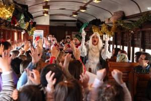 Como en otros años, durante 2015 el tren contará con animaciones a bordo. Foto cortesía del Museo del Ferrocarril.