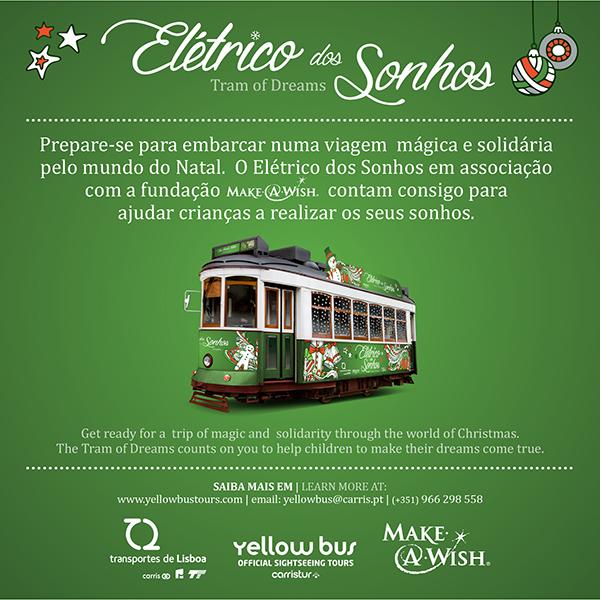 Cartel promocional del Tranvía de los sueños de Carristur. Foto: Transportes de Lisboa.