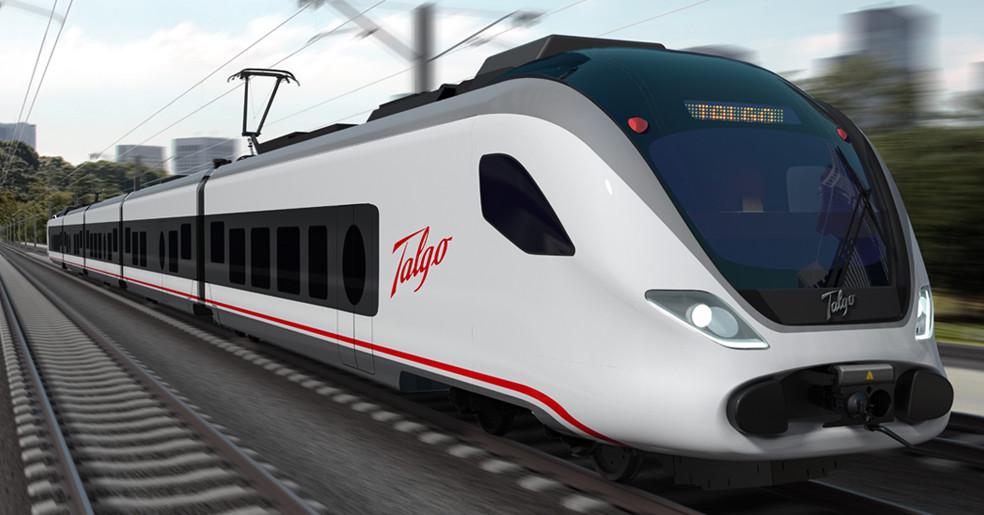 Renderizado del Talgo Vittal, uno de los potenciales candidatos a ser los nuevos trenes de Renfe Cercanías.