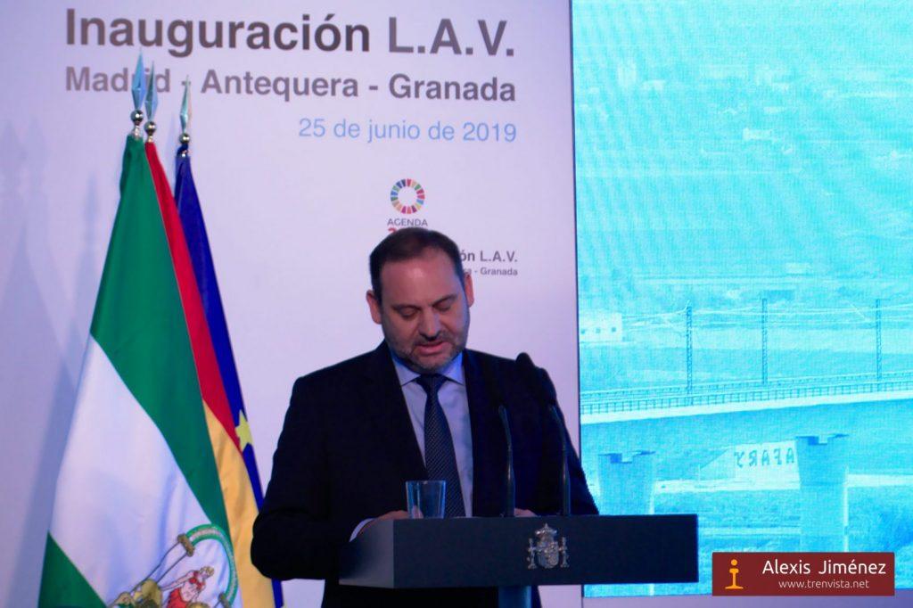 El Ministro de Fomento durante su discurso inaugural