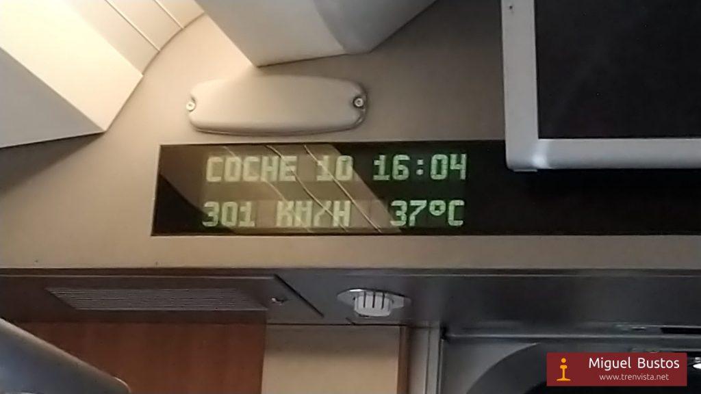 El 112-022 circulando a toda velocidad por la nueva LAV Antequera-Granada
