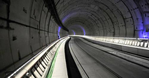 Interior del túnel Atocha Chamartín para trenes de alta velocidad