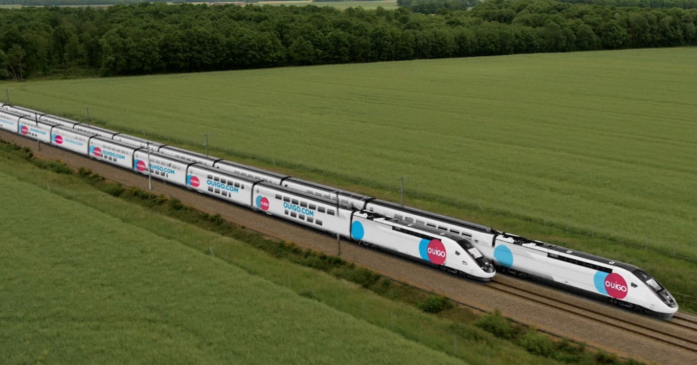 Renderizado de los trenes Ouigo que circularán en España
