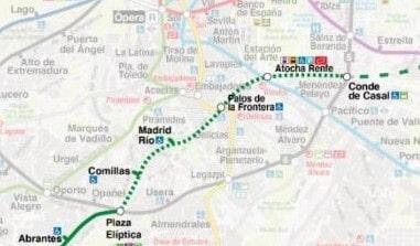 Ampliación de la línea 11 del metro de Madrid entre Plaza Elíptica y Conde de Casal