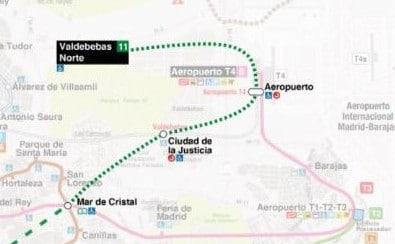 Ampliación de la línea 11 del metro de Madrid entre y Mar de Cristal y Valdebebas