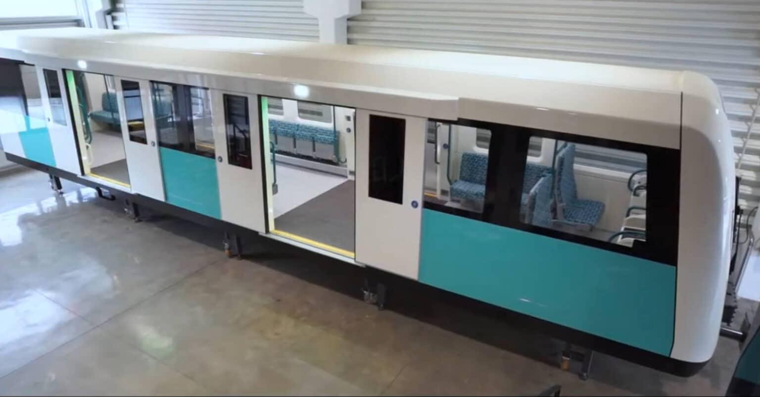 Captura de pantalla del vídeo de CAF en el que se presenta la maqueta de los nuevos trenes del Docklands Light Railway