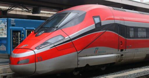 ETR 1000 de Trenitalia, similar a los que usará ILSA en España, estacionado en Roma Termini. MATT TAYLOR.