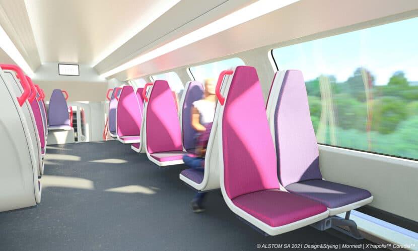 Así será el piso de arriba en los nuevos trenes.