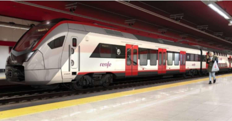 Reproducción del tren que ha presentado Stadler de su tren en Nuevos Ministerios, Madrid. RENFE.