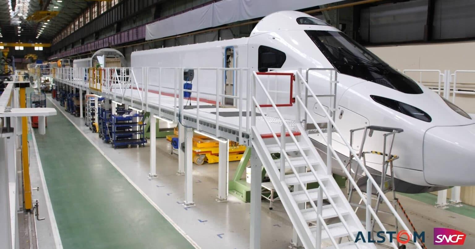Cabeza del TGV M en la factoría de Alstom. ALSTOM